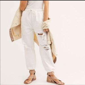 Free People Sloan Destructed Jogger